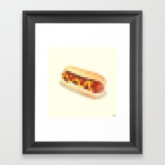 Censored Hot Dog Framed Art Print
