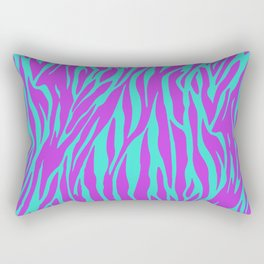 Purple and Green Zebra print Rectangular Pillow