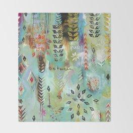 """Fly Free Between"" Original Painting by Flora Bowley Throw Blanket"