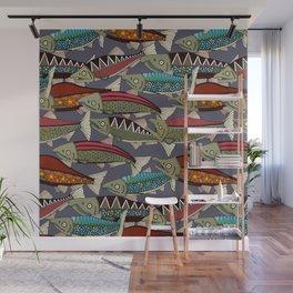 Alaskan salmon dusk Wall Mural