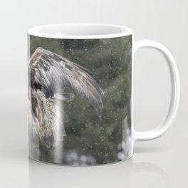 Eagle In The Snow. Coffee Mug