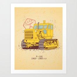 T 100 Art Print
