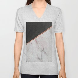 Marble fashion texture Unisex V-Neck