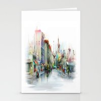 street Stationery Cards featuring street by tatiana-teni