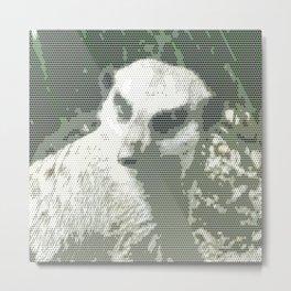 Halftone pixel fun MEERKAT Metal Print