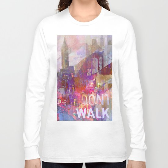 Snowstorm on the city Long Sleeve T-shirt