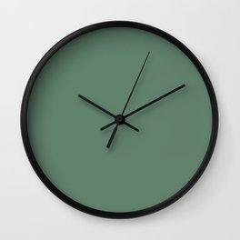 Dark Green Slate Solid Color Pairs To Sherwin Williams Jadite SW 6459 Wall Clock