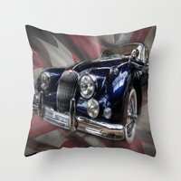 british flag Throw Pillows featuring British Beauty by Cozmic Photos