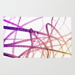 Violet Mulberry Goldenrod Tangled Abstract Rug