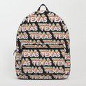 Texas, USA Trendy Rainbow Text Pattern (Black) by thelightfield