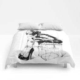 Damsel in Silk Scarf Comforters