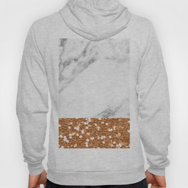 Marble and brass glitter Hoody