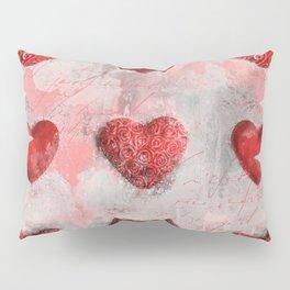 Heart Love Red Mixed Media Pattern Gift Pillow Sham