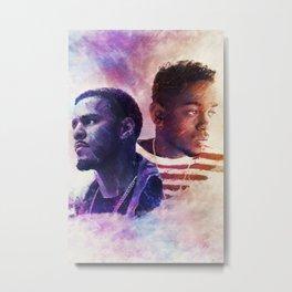 J. Cole & Kendrick Lamar  Metal Print