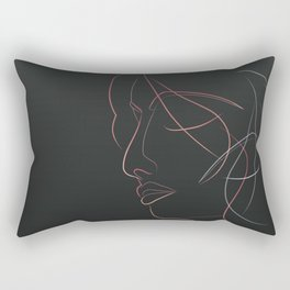 Authîel Rainbow Minimalist Rectangular Pillow