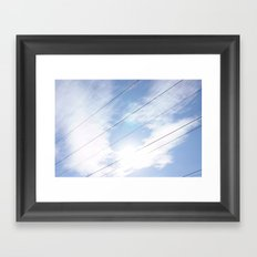 Lines In The Clouds Framed Art Print