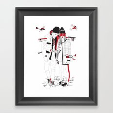 When sight is restricted, vision becomes clear. Framed Art Print