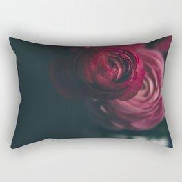 Red Ranunculus Rectangular Pillow