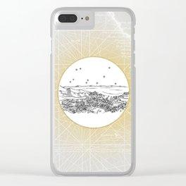 Avalon, Santa Catalina Island, California City Skyline Clear iPhone Case