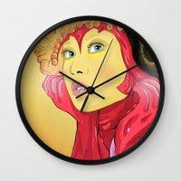 superheroes Wall Clocks featuring Superheroes SF by Vasco Vicente