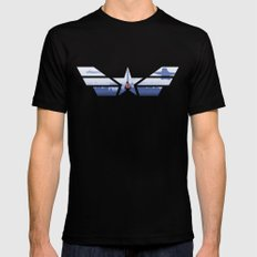 The Captain (Stars and Stripes) Mens Fitted Tee MEDIUM Black