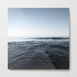Beautiful Sunset and Bubbly Water Classic Blue Pantone Colour of the Year Metal Print
