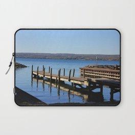 Pier on Cayuga Lake Laptop Sleeve