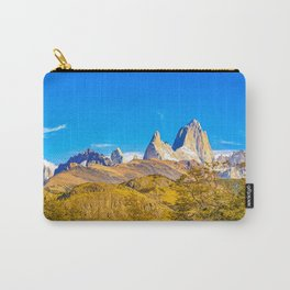 Snowy Andes Mountains, El Chalten, Argentina Carry-All Pouch