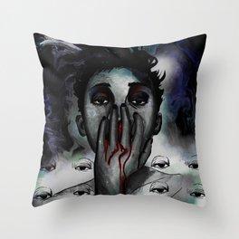 Nose Bleed  Throw Pillow