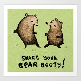 Bear Booty Dance Art Print