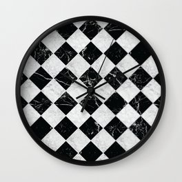 Cubic Black & White Marble #895 Wall Clock