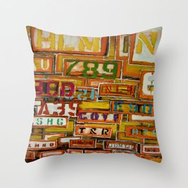 Give Me A Sign Throw Pillow