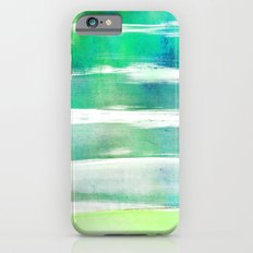 waves - turquoise iPhone 6s Slim Case