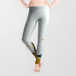 Two birds with one worm  Leggings