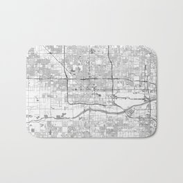 Phoenix City Map Line Bath Mat