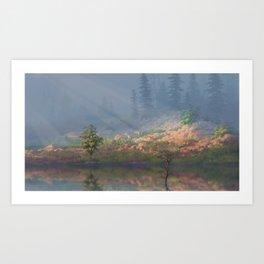 Misty Hill Art Print