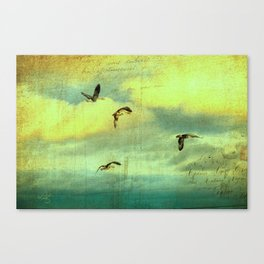 Carrying the Mail Canvas Print