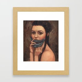 Tell Me to Smile Framed Art Print