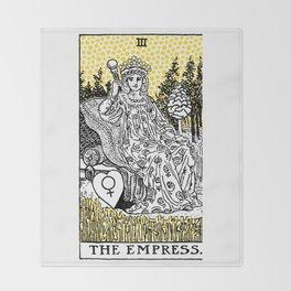 Modern Tarot Design - 3 The Empress Throw Blanket