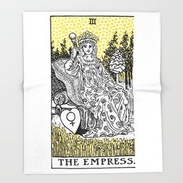 Modern Tarot Design - 3 The Empress Throw Blanket