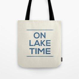 On Lake Time Tote Bag