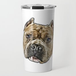 American Bully pitbull dog Travel Mug