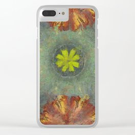 Trabes Stripped Flowers  ID:16165-151640-97070 Clear iPhone Case