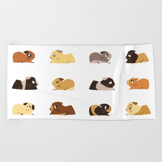 Guinea pigs Beach Towel