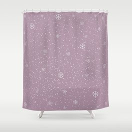 Purple Winter Shower Curtain