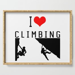 I Love Climbing - Sport Climb Climbing Climber Boulder Serving Tray