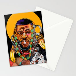King is Black Stationery Cards