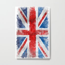 United Kingdom Vintage flug Metal Print