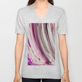 452 - Abstract Petals Design Unisex V-Neck