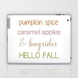 Autumn Words Laptop & iPad Skin